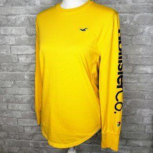 Hollister Yellow Long Sleeve Logo Shirt - XS
